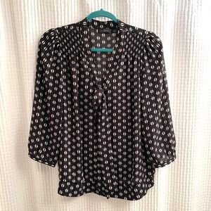 The Limited black and white print blouse